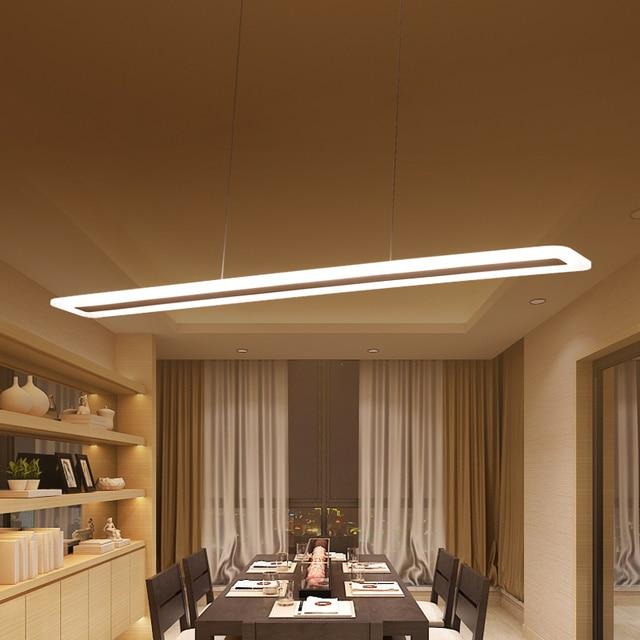 L40 120cm Modern mutfak için asılı lamba yemek oturma odası led kolye ışıkları Metal + akrilik sarkıt lamba süspansiyon armatür