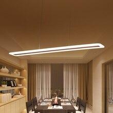 L40 120cmโมเดิร์นโคมไฟแขวนสำหรับห้องครัวห้องรับประทานอาหารห้องนั่งเล่นไฟLEDจี้โลหะ + อะคริลิคจี้โคมไฟแขวนโคมไฟ