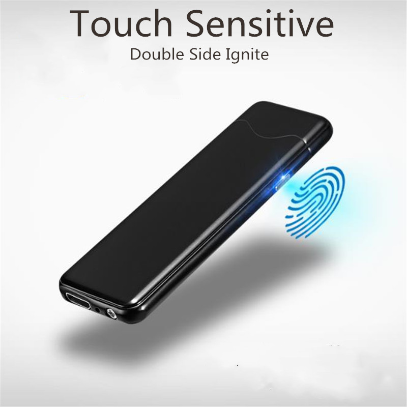 Touch-senstive Switch Lighter Cigarette Lighter USB Lighters Windproof Flameless Rechargeable Electronic Lighter for Smoking