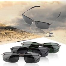 Men's HD Sunglasses Outdoor wide Eyewear Driving Anti-Glare Wear-resisting Lens Relieve Visual Fatigue mens sunglasses 2017