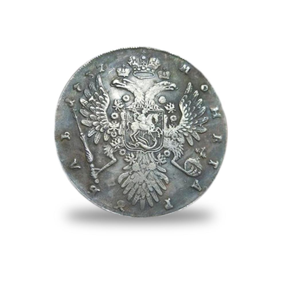 Russian Antique Coin 1737 Ancient Silver Coin Commemorative Coin