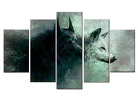 5 Pieces Set HD Printed Wolf Canvas Art Canvas Painting Wall Art Children Room Decor Poster