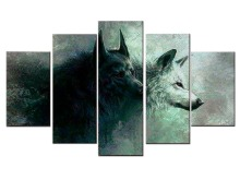 5 Pieces/set HD Printed wolf  canvas art canvas painting wall art children room decor poster canvas picture