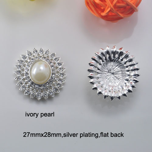 27mmx28mm,silver Or Rose Gold Plating,flat Back Extremely Efficient In Preserving Heat Free Shipping Wholesale 20 Pcs/lot Rhinestone Button l0622
