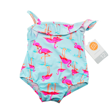Super Cute Baby Girl Swimwear Hey Flamingos