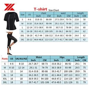 Image 5 - HEXIN ผู้หญิงซาวน่าเสื้อยืดกางเกง 2Pcs ต่อชุด Body Shapers Neoprene กีฬาไขมัน Burn เหงื่อ Slimming ออกกำลังกายเหงื่อเอวเทรนเนอร์