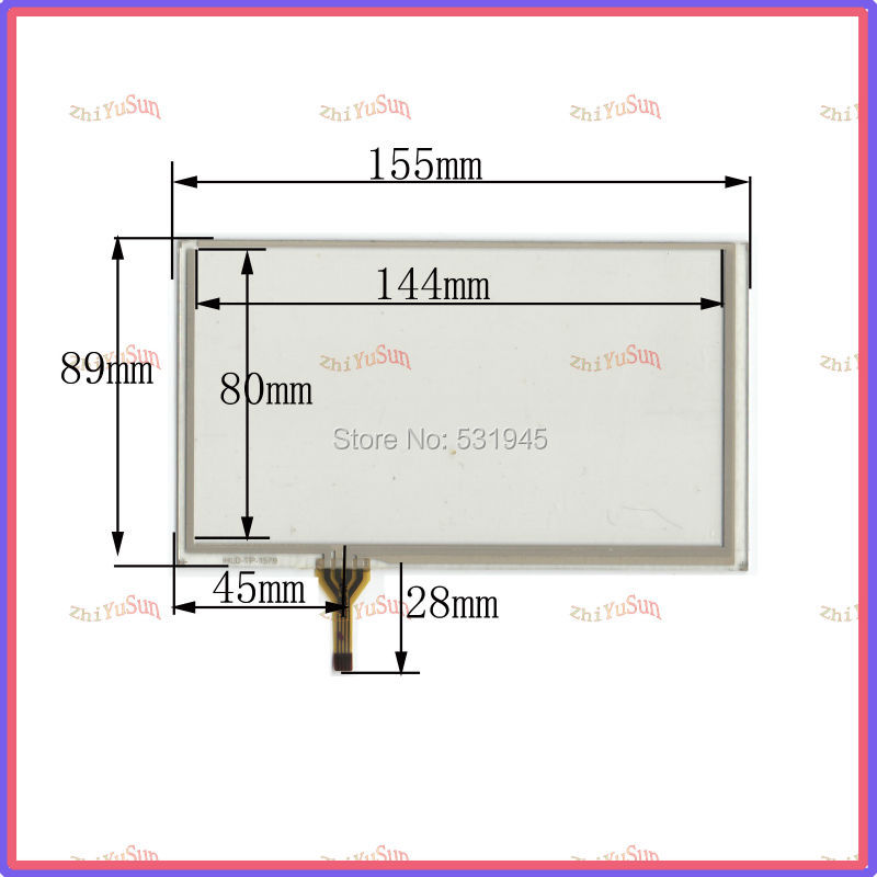 HLD-TP-1579 NEW 6.2 Inch Touch Screen 155*89 for industry applications 155mm*89mm for GPS GLASS