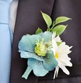 Classic Blue Wedding Flower Brooches Romantic Bride Orchid Flower Mens Suit Brooches