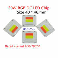 DC sin conductor RGB 50 W LED Chip LED de alta potencia de la lámpara de en paisaje de iluminación proyecto de iluminación-Luz lámpara de chip