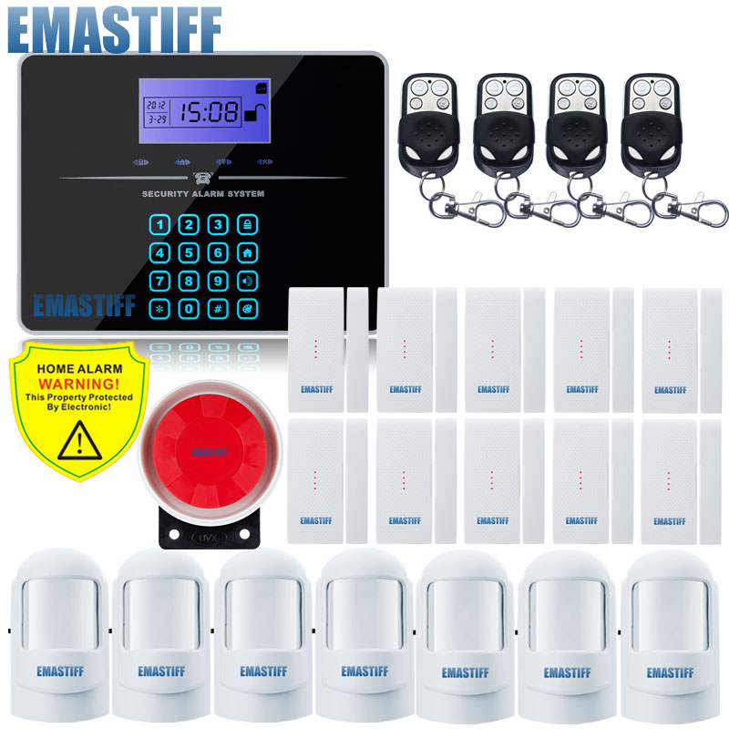 Free Shipping Remote Controller Wireless PSTN GSM Alarm System 433MHz 850/900/1800/1900MHz Home Burglar Security Alarm System russian english voice wireless pstn gsm alarm system security home alarm 850 900 1800 1900mhz free shipping