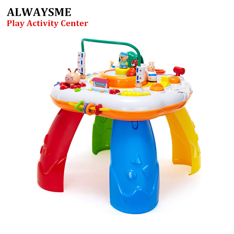 Free Shipping Musical Baby Learning Table Discovering Activity Baby Table Educational Game Toys 100% High Quality Materials Mother & Kids Activity & Gear