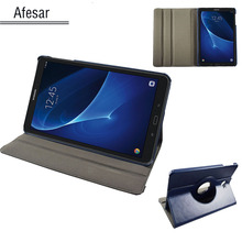 Una ficha de a6 10.1 sm t580 t585 t587 360 rotating case cubierta-forsamsung galaxy tab a 10.1 2016 tablet multi ángel cubierta del soporte case