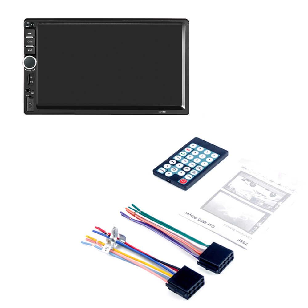 7018B 7 インチ車多機能プレーヤー、タッチスクリーン Bluetooth MP3 プレーヤー RM/RMVB/BT/FM プレーヤー MP5 プレーヤーカーラジオ