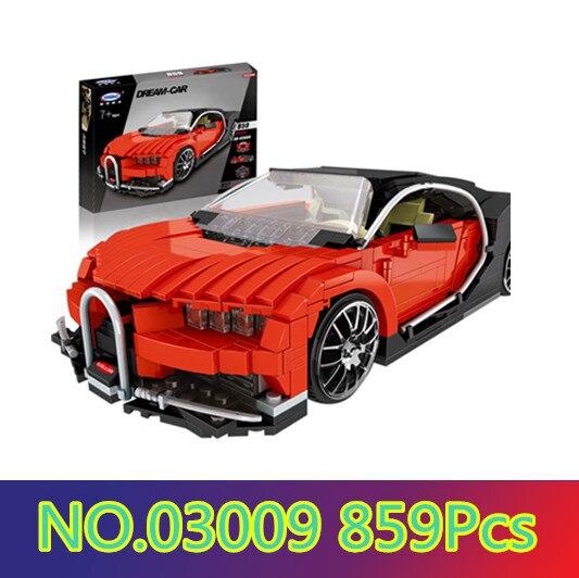 Model building kits compatible with lego Gallon Supercar 3D blocks Educational model building toys hobbies for children