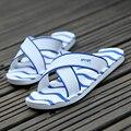 2016 Hombres Zapatillas de Verano Sandalias Casuales Ocio Toboganes Blandos EVA Masaje Beach Sandals Zapatillas Hombres Zapatos Size40-45