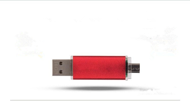Best qualityMobile phone computer dual usb flash drive flat twin plug pen drive OTG USB flash drive pendrive otg stick S245