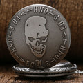 Мертвого Примечание Карманные Часы 2016 Мода Новый Горячий Продажа череп Оптовая Мужчины Женщины Ожерелье Бесплатная Доставка
