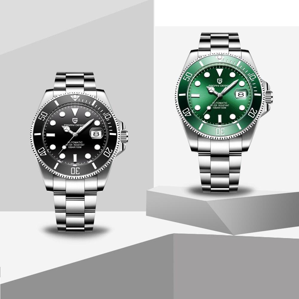 PAGANI Design Brand Luxury Men Watches Automatic Black Watch Men Stainless Steel Waterproof Business Sport Mechanical Wristwatch - 6