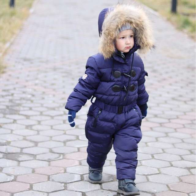 placeholder 3~6T Russian Winter Baby Down Romper Girls Snowsuit Outdoor  Overalls for Boy Kids Snow 1a3427204