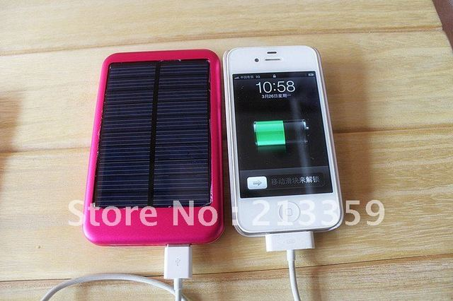 Free Shipping fo Portable Solar Charger+5000mah Mobile Power Pack+USB 5.5V 1.5A Output Fast Battery Charger hot!