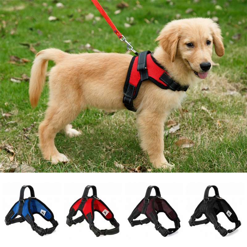 Hot Sale Medium Large Pet Dog Polyester Chest Strap Dog Harness S M L XL Y6