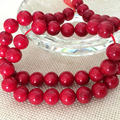 Fashion red sea natural precious coral jasper 6mm 8mm 10mm beautiful round loose beads diy Special Jewelry making 15 inch MY5020