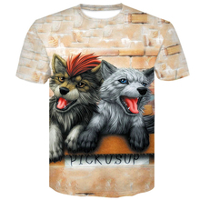 Quality Wolf Printed T shirts Men 3d T-shirts Drop Ship Top Tee Short Sleeve Camiseta Round Neck TShirt Fashion Casual Brand 4XL