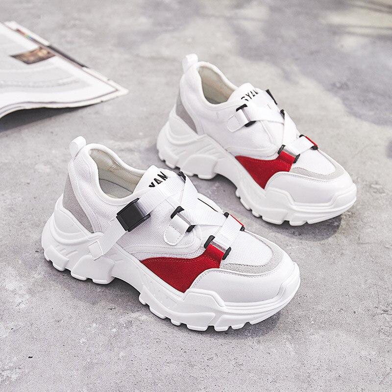 Baskets Plate Femme Boucle Rond Couleurs Automne noir Plat Hiver Mode Mélangées Moonmeek 2018 Bout Chaussures White forme WR8UHWvwq
