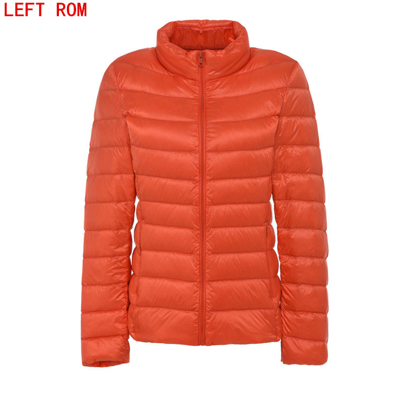 2017 fashion women keep warm Super light thin 90 White duck down jacket femininity Stand collar