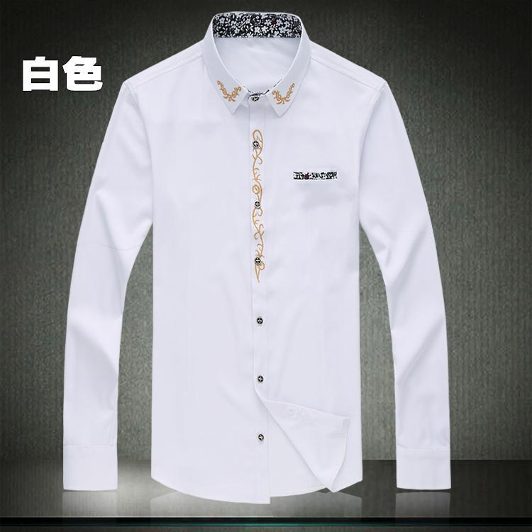 Мужская рубашка Camisa Masculina Vestidos размера плюс Новые однотонные рубашки с длинным рукавом Hombre размера плюс 7XL 6XL 5XL рубашки
