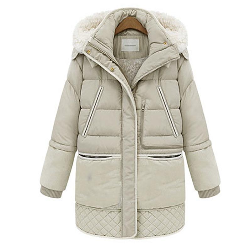 2017 New Parkas for Women Jackets Winter Jacket Women Thick Coats White Wool Winter Coat Outerwear