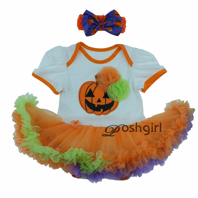 Newborn Halloween Baby Tutu Romper Hallowe'en festival clothes Outfits Baby Girl Jumpsuit NewBorn Infant Clothing Bebes Infantil