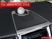 Auto Cruscotto Console Copertura Dell'altoparlante Audio Lunetta Anello Sticker Telaio Contorno Auto accessori styling Per 2018 2019 Volvo XC60