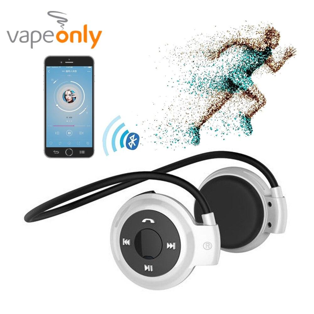 Vapeonly Foldable Bluetooth Headsets Wireless Sweatproof Sports Headphone Support TF Card Mini Headset for Smartphone Earphones
