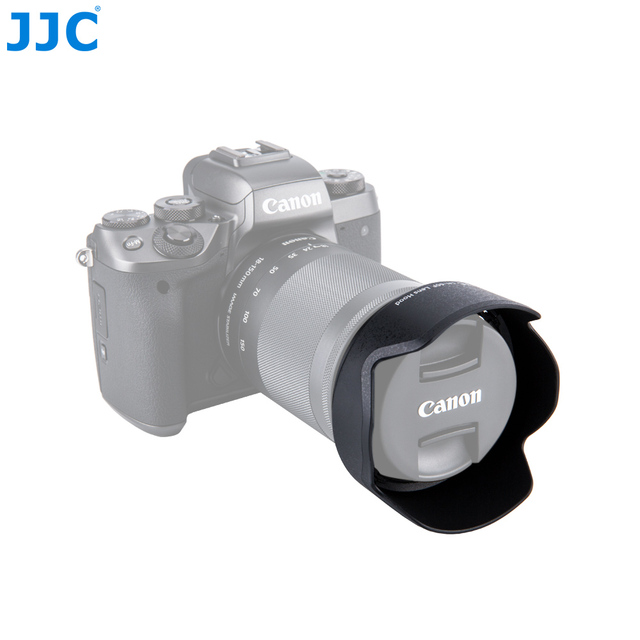 JJC LH-60F Lens Hood EW-60F For CANON EF-M 18-150mm f/3.5-6.3 IS STM Blocks stray light Lens protector replace/for CANON EW-60F
