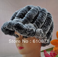 hot sale high quality  fur knight cap rabbit fur cap baseball cap mink fox hat female,