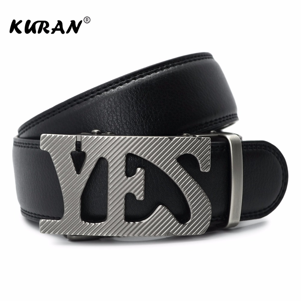 Mens Business Style Belt Designer Leather Strap Male Belt Automatic YES Buckle Belts For Men Top Quality Girdle Belts For Jeans