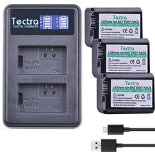 Tectra 3Pcs NP-FW50 NPFW50 Substitute Bateria + LCD USB Twin Charger for Sony NEX-7 NEX-5N NEX-F3 NEX-3D NEX-3DW NEX-3K NEX-5C