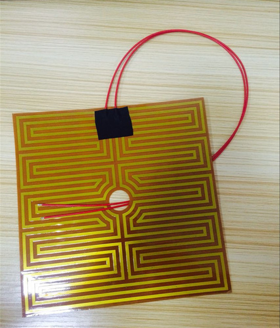 3D Printer Parts Prusa i4 3D Printer Hotbed/Heating Bed Heater/Yellow Heater Plate Wholesale 24V 8A