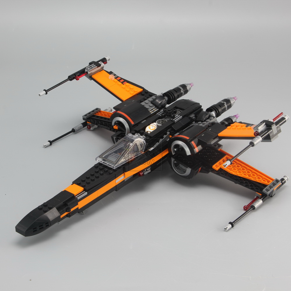 New Lepin Building Blocks 05004 Model Star Poe's X Wing Fighter 75102 Compatible Bricks Figure Toys For Children gift lepin 02012 city deepwater exploration vessel 60095 building blocks policeman toys children compatible with lego gift kid sets