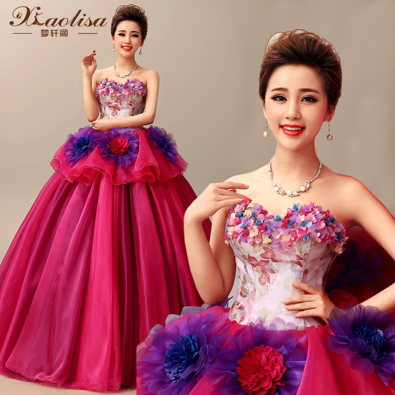 Custom Pink Quinceanera Dresses Debutante Long Tail Quinceanera Gowns Flowers Decorated Vestidos De 15 Anos Sweet 16 Dresses