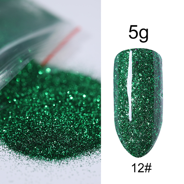 5g Colorful Nail Powder Glitter Shimmer Nail Art Laser Shining 20 Colorful Nail Dust DIY Nail Accessories Tips Manicure