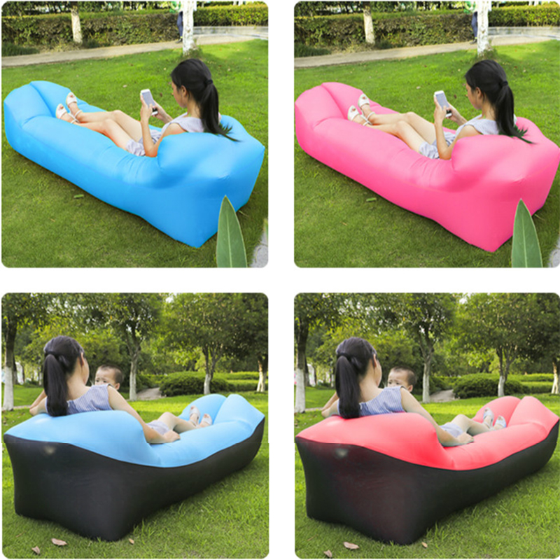 Outdoor Inflatable Sleeping Bag Air Bed Sofa Lounger Air Couch Chair Folding Lazy Bag Beach Hiking Fishing Camping Equipment Спальный мешок