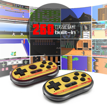Data Frog Mini Video Gaming Console For FC30 Pro Build In 260 Classic Games 8 Bit Handheld Game Players Support TV Output