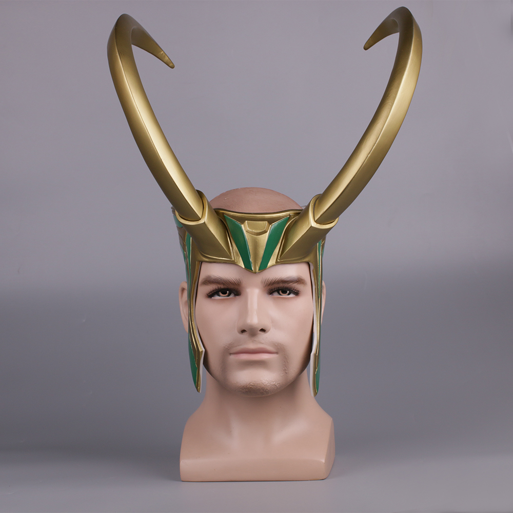 Thor 3 Ragnarok Loki Laufeyson costume cosplay masque pour casque Halloween Décors De Fête cadeau de noël PVC D'or accessoires de masque