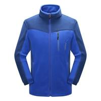 Autumn Windproof Warm Men Hiking Jackets Soft Shell Outdoor Camping Jacket Anti Static Polar Fleece New Man Fitness Sport Coat