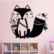 Lovely Fox Animal DIY Wallpaper Removable Wall Stickers for Kids Rooms Baby Rooms Stikers for Wall Decoration Murals