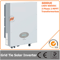 6000W 140V 800VDC Three Phase Transformerless Solar Grid Tie Inverter with CE RoHS Approvals