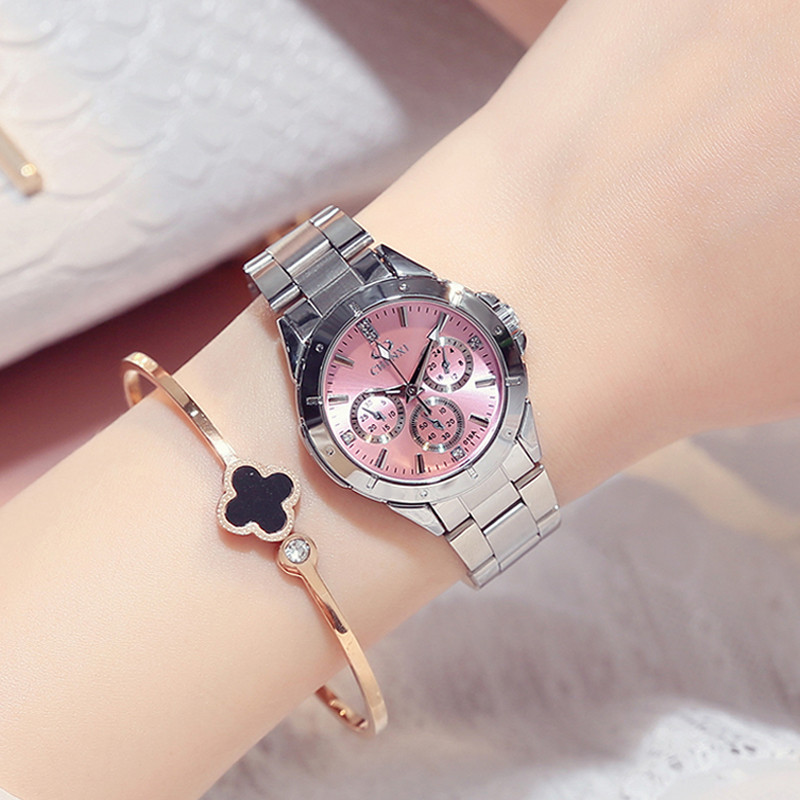 CHENXI Mode Luxus Quarzuhr Frauen Kleiden Edelstahlband Wasserdicht Business Casual Damen Uhren relogio feminino