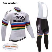 BORA Winter Warm Men Pro Team Cycling Suits Thermal Fleece Cycling Clothing Riding Clothing Set Ropa